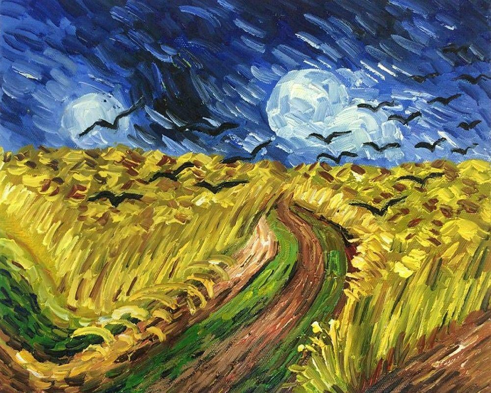 Van Gogh Museum Quality Reproduction Wheat Field With Crows - Hand ...