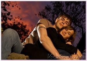 романическое фото влюбленной пары