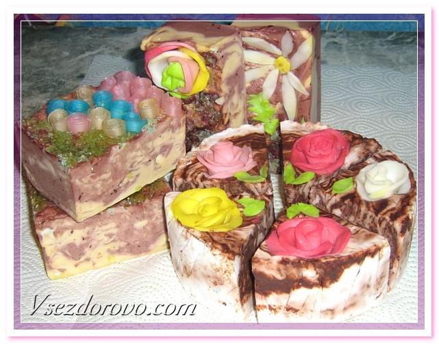 мраморное и шоколадное мыло из детского