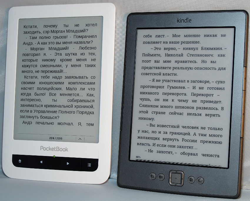 PocketBook Touch Против Kindle 4