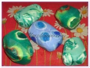 камни из мыльной основы