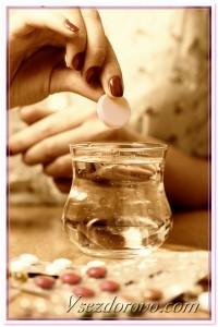 стакан воды таблетка фото