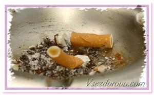 пепельница с окурками фото