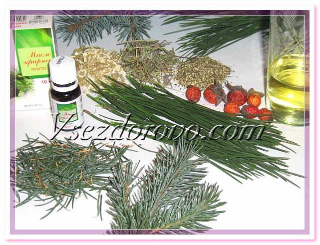 100 грамм детского мыла 40 грамм оливкового масла по 10 грамм цветов ромашки, травы чабреца и мелиссы по 20 грамм хвои сосны и ели 25 грамм эфирного масла пихты 150 грамм отвара шиповника