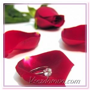 розовый лепесток и кольцо