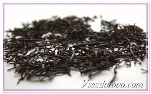 черный чай макро фото