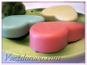 разноцветные желе для душа на основе детского мыла и желатина