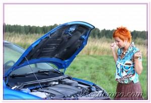 дама за рулем авто