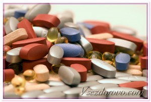 много много разноцветных таблеток