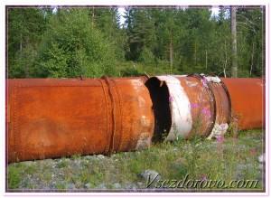 огромные ржавые трубы фото