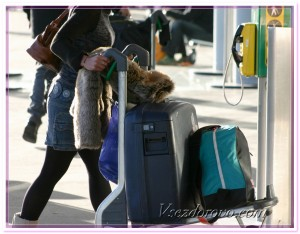 Женщина с багажом фото