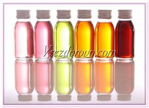 Базовые масла разных цветов фото