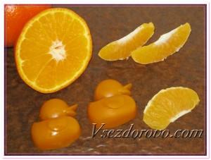 Массажные плиточки с ароматом апельсина фото