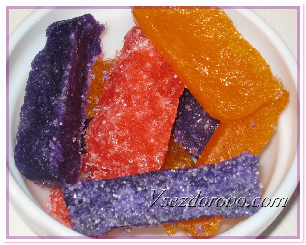 Разноцветный сахарный с краб с мыльной основой