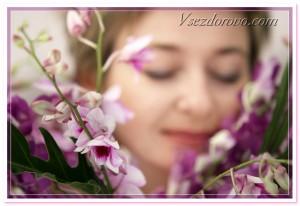 прекрасная женщина и цветы фото