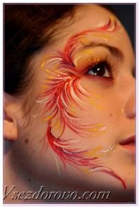 необычный макияж бодиарт