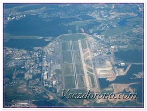Вид из иллюминатора самолета фото