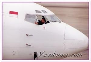 Пилот в окне самолета фото