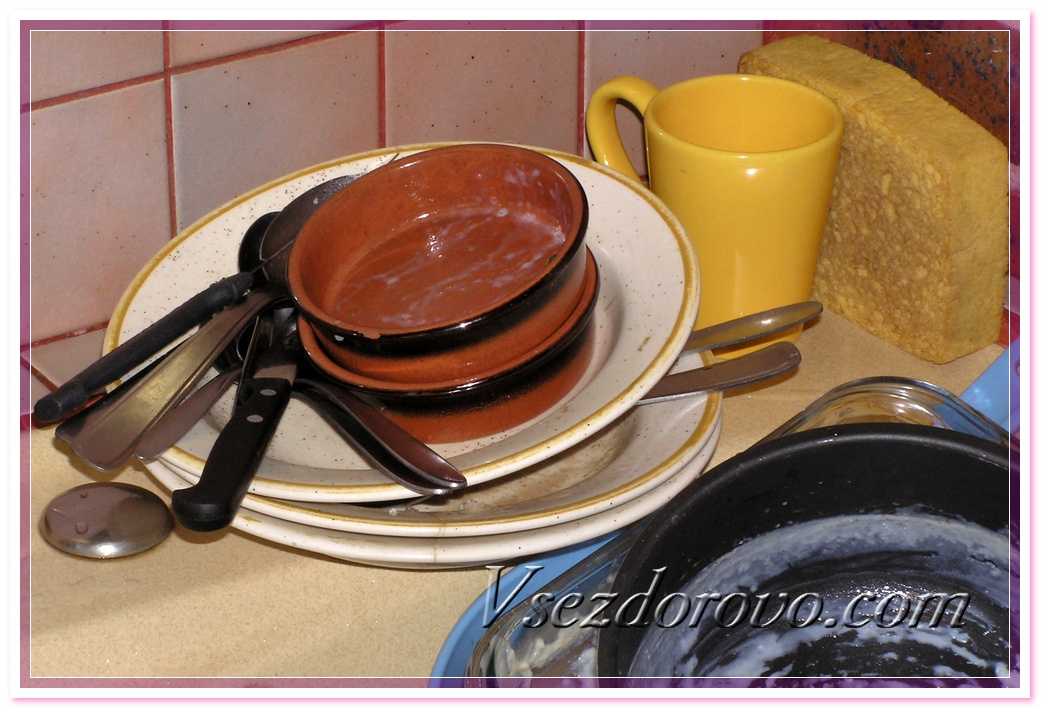 Грязная посуда фото