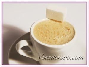 Кофе с сахаром фото