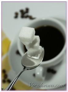 Чашечка кофе и сахар фото