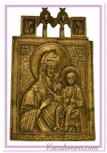старинная металлическая икона фото