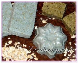 Сахарный скраб с овсяными хлопьями фото