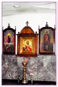 При съемке церкви, икон релиз можно получить у священника