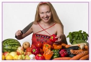 Девушка - вегетарианка фото