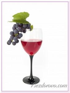 Виноградное вино повышает уровень сахара в крови