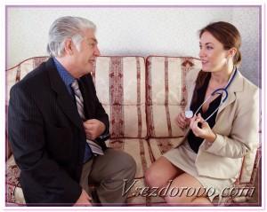 Мужчина на приеме у врача фото