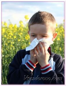 Мальчик с аллергией на пыльцу фото