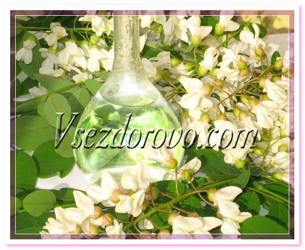 Гидролат, полученный из цветков акации