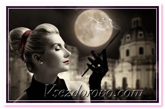 красивая женщина и луна фото