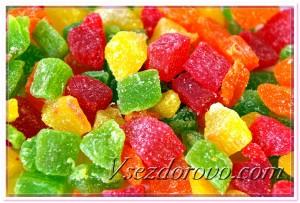 Подкрашенные цукаты фото