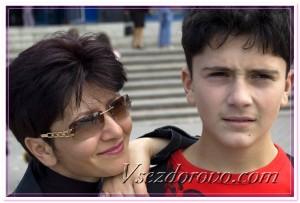 Мать и сын фото