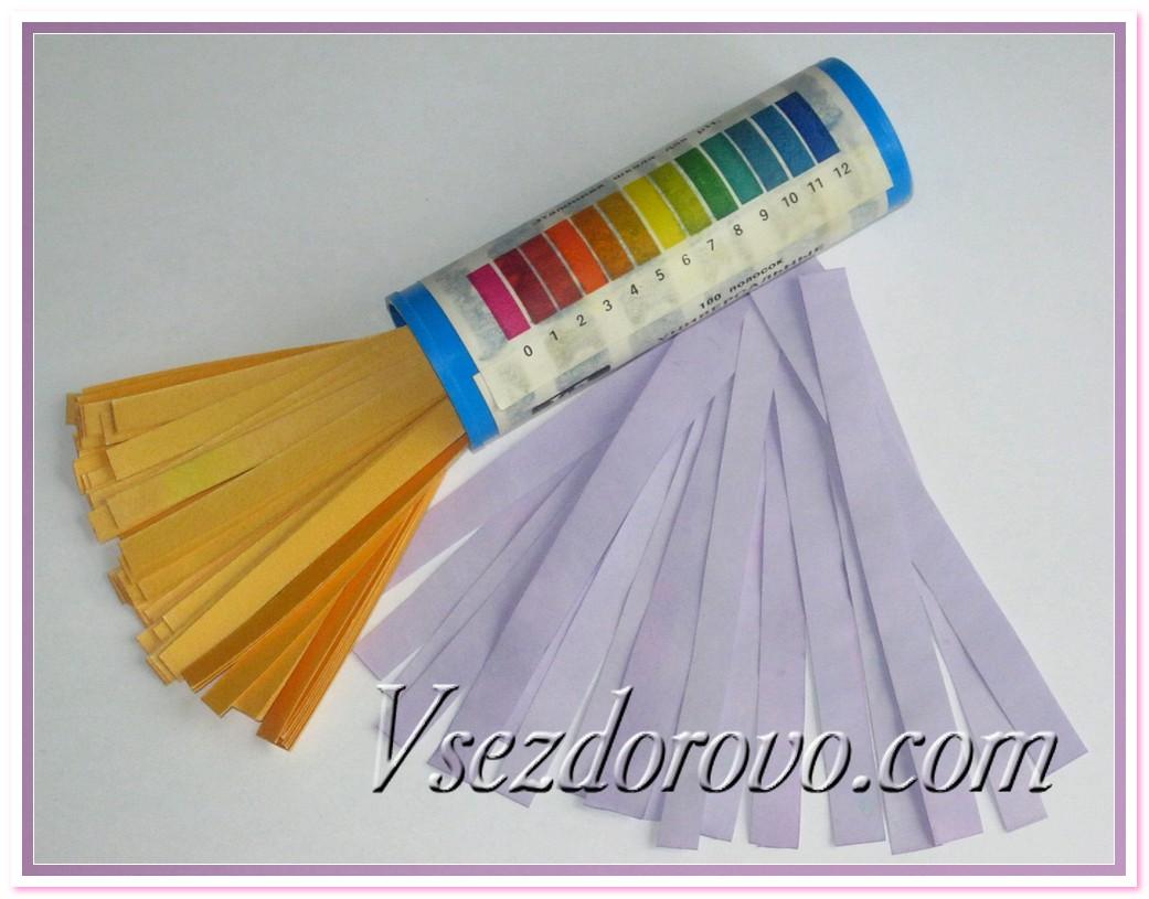 Лакмусовая бумага в домашних условиях 110