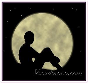 Человек и Луна