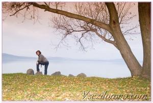 Девушка осень фото