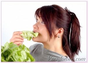 девушка ест капусту фото