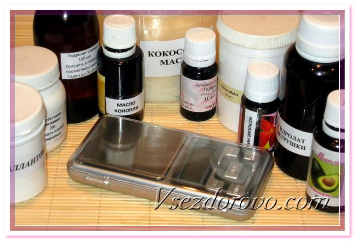 Компоненты для изготовления крема