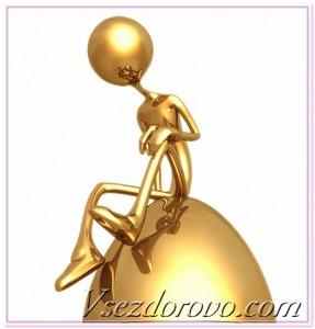 золотой человечек 3д
