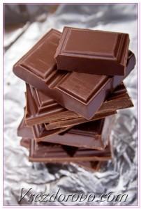 кусочки шоколада макро фото