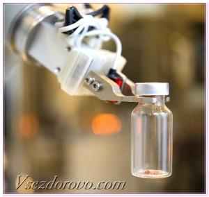 робот в лаборатории
