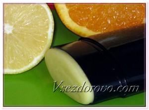 Цитрусовый дезодорант фото