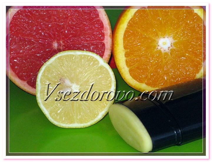 Натуральный цитрусовый дезодорант фото