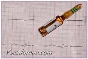 ампула и кардиограмма