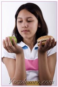 мясо или фрукты