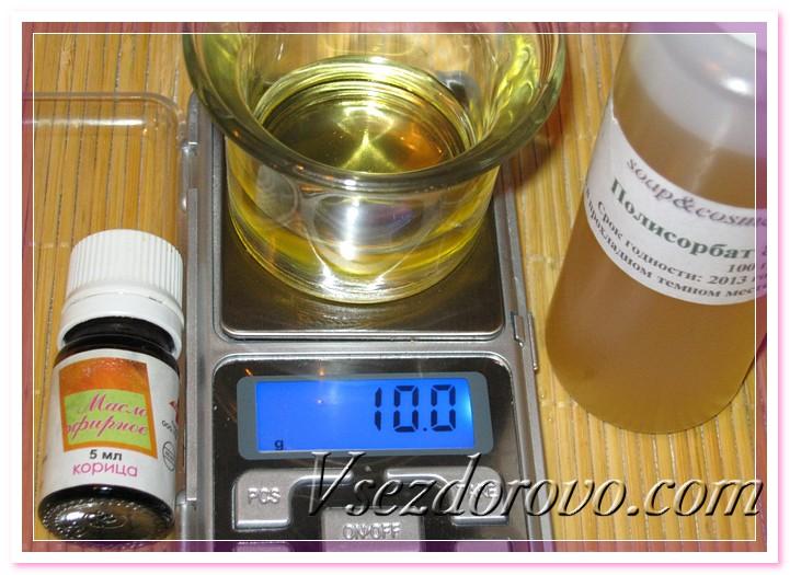 Растворяем эфирное масло в Полисорбате