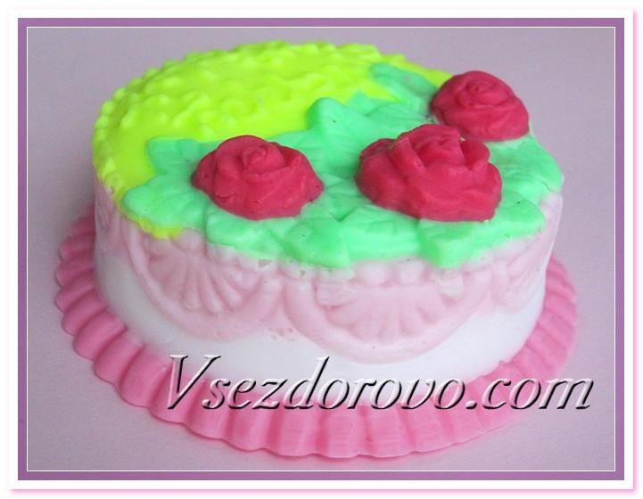 Мыльный тортик фото